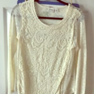 Sweaters - Super cute sheer arm sweater top